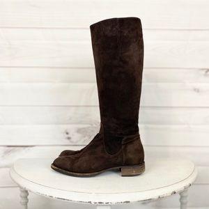💕🌵AQUATALIA Brown Suede Riding Boots 6.5